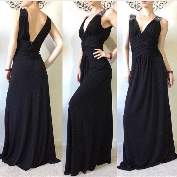 BCBG Paris Dresses & Skirts - BCBG Paris Stretchy Black Maxi Gown